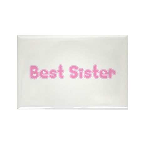 Best Sister Rectangle Magnet