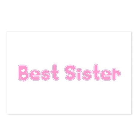 Best Sister Postcards (Package of 8)