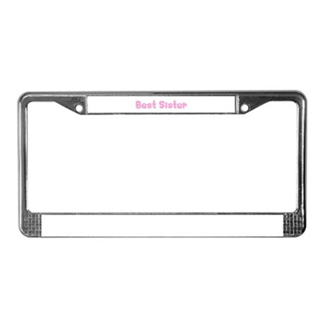 Best Sister License Plate Frame