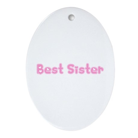 Best Sister Oval Ornament
