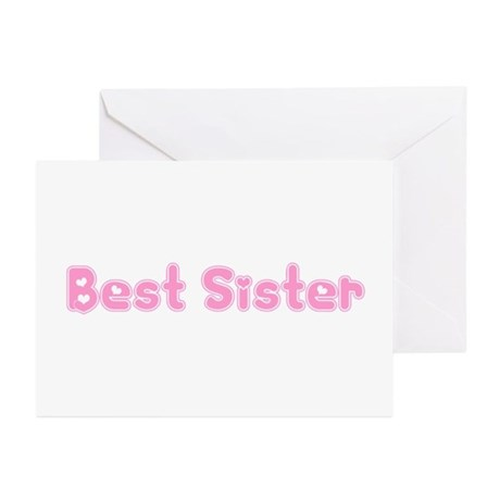 Best Sister Greeting Cards (Pk of 10)