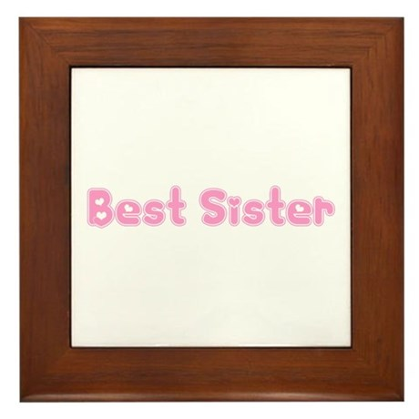 Best Sister Framed Tile