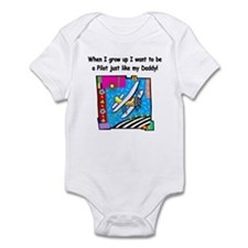Airplane Pilot Daddy Infant Bodysuit