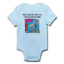 Airplane Pilot Daddy Onesie