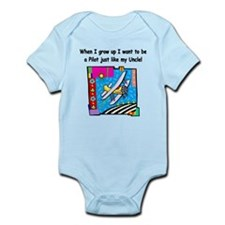 Airplane Pilot Uncle Infant Bodysuit