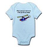 Helicopter Pilot Daddy Infant Bodysuit