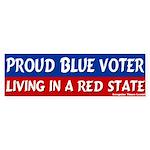 Nebraska Blue Voter Bumper Sticker