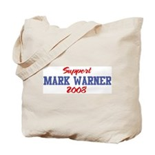 Support MARK WARNER 2008 Tote Bag
