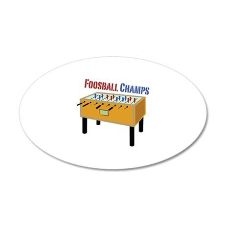 Foosball Champs Wall Decal