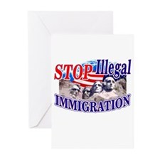 Stop Illegal Immigration Greeting Cards (Package o