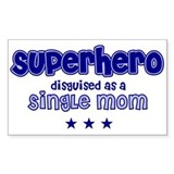 Superhero - Single Mom Rectangle Decal