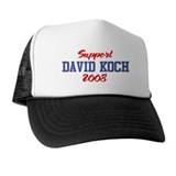 Support DAVID KOCH 2008 Trucker Hat
