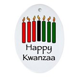 Happy Kwanzaa Oval Ornament