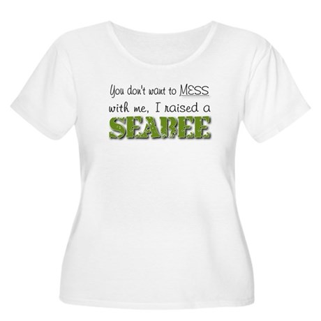 I raised a Seabee (green) Women's Plus Size Scoop