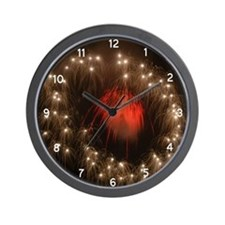Silver Ring Fireworks Wall Clock
