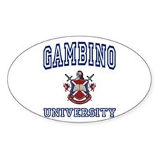 GAMBINO University Oval Decal