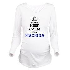 Funny Machina Long Sleeve Maternity T-Shirt