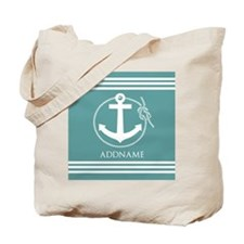 Cadet Blue Rope Anchor Personalized Tote Bag