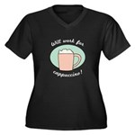 Will Work For Cappuccino Women's Plus Size V-Neck