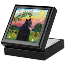 Bright Country & Belgian Shepherd Keepsake Box