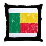 Vintage Benin Throw Pillow