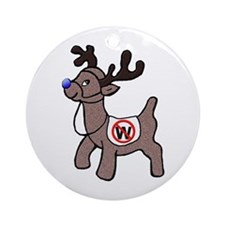 Rudolph the Blue-Nosed Reindeer Round Ornament