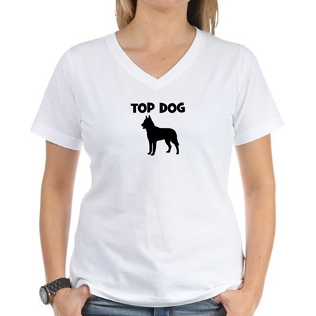 Belgian Malinois - top dog Women's V-Neck T-Shirt