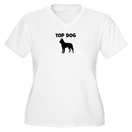 Belgian Malinois - top dog Women's Plus Size V-Nec