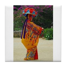 Okinawan Dancer Tile Coaster