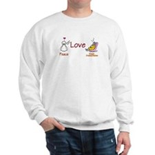 PEACE LOVE & GRANDKIDS Sweatshirt