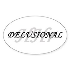 "Low Price ""Delusional"" Oval Decal"