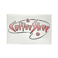Retro Coffee Shop Rectangle Magnet