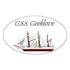U.S.S. Geeklove Oval Decal
