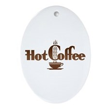 Hot Coffee Oval Ornament