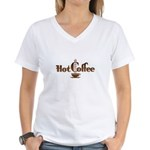 Hot Coffee Women's V-Neck T-Shirt