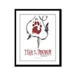 Year of the Dogman Framed Panel Print