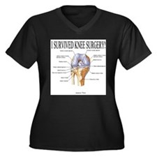 Funny Knee replacement Women's Plus Size V-Neck Dark T-Shirt
