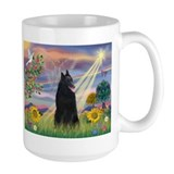 Cloud Angel & Belgian Shepherd Coffee Mug