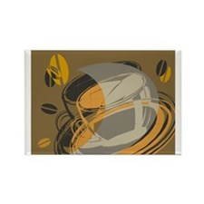 Abstract Coffee Shop Rectangle Magnet