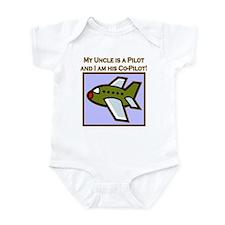 Uncle's Co-Pilot Airplane Infant Bodysuit