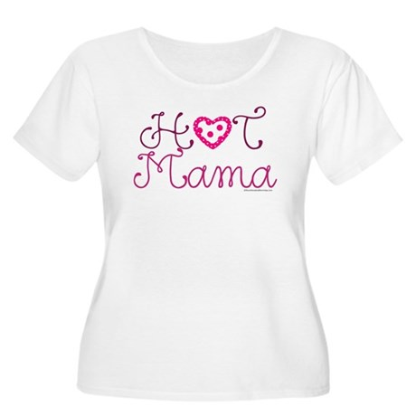 Hot Mama Women's Plus Size Scoop Neck T-Shirt