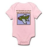 Grandpa's Co-Pilot Airplane Infant Bodysuit