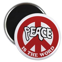 Peace is the word Magnet
