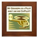 Grandpa's Co-Pilot Helicopter Framed Tile