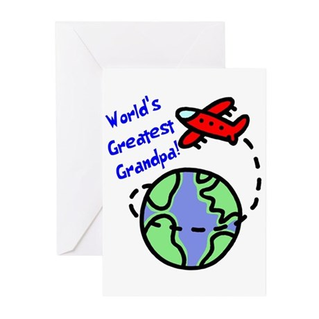 World's Greatest Grandpa Greeting Cards (Pk of 10)