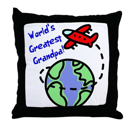 World's Greatest Grandpa Throw Pillow