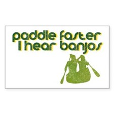 Banjos Paddle Faster Rectangle Decal