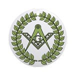 Masons square in a circle Ornament (Round)