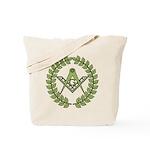 Masons square in a circle Tote Bag