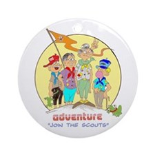 ADVENTURE-BOY SCOUTS II Ornament (Round)